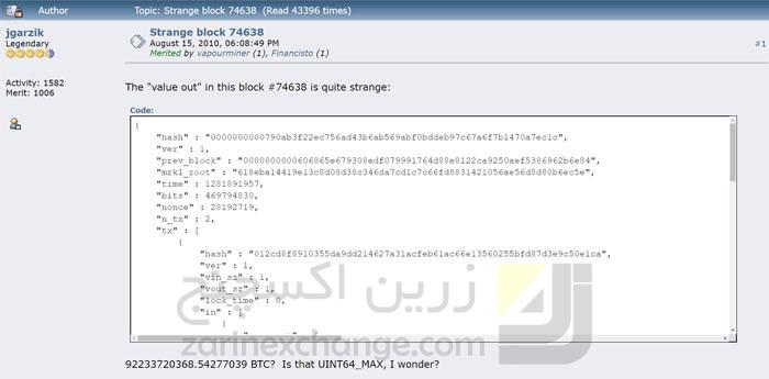 اولین کاربری که متوجه هک شدن بیت کوین شد