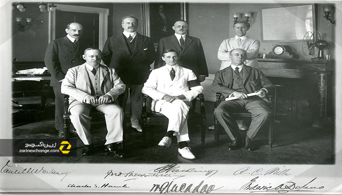 اولین اعضای هیئت مدیره فدرال رزرو